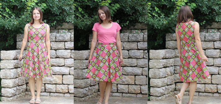 Kleid aus Waxprint