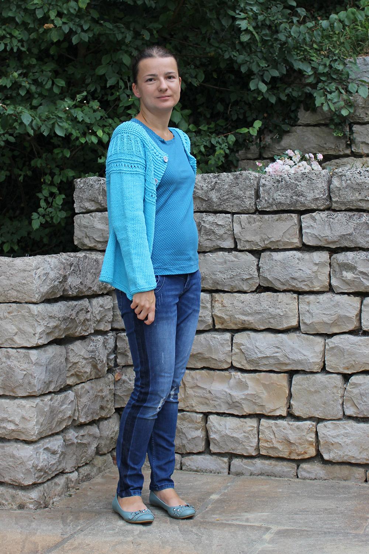 Athena-Cardigan von Drops in türkis