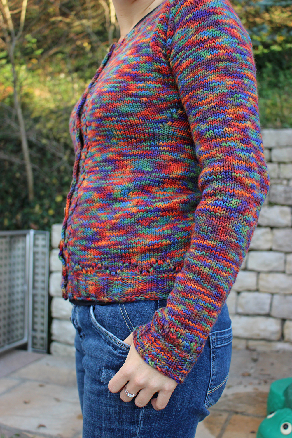 Strickjacke Miette in Reggae Herbstufer