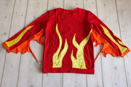 Kostüm Feuer Shirt hinten