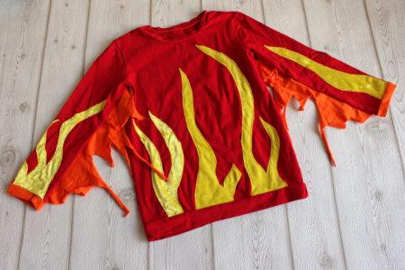 Kostüm Feuer Shirt