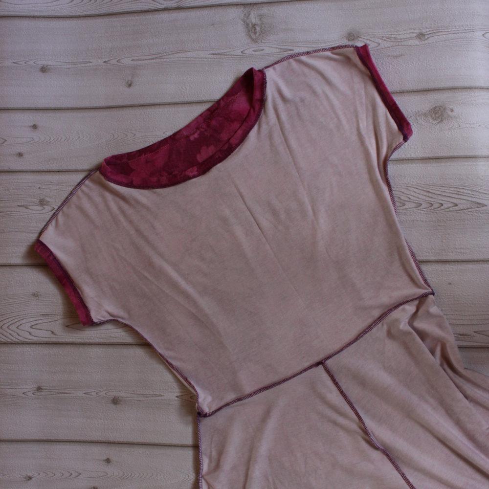rosa Jerseykleid aus der Faschion Style