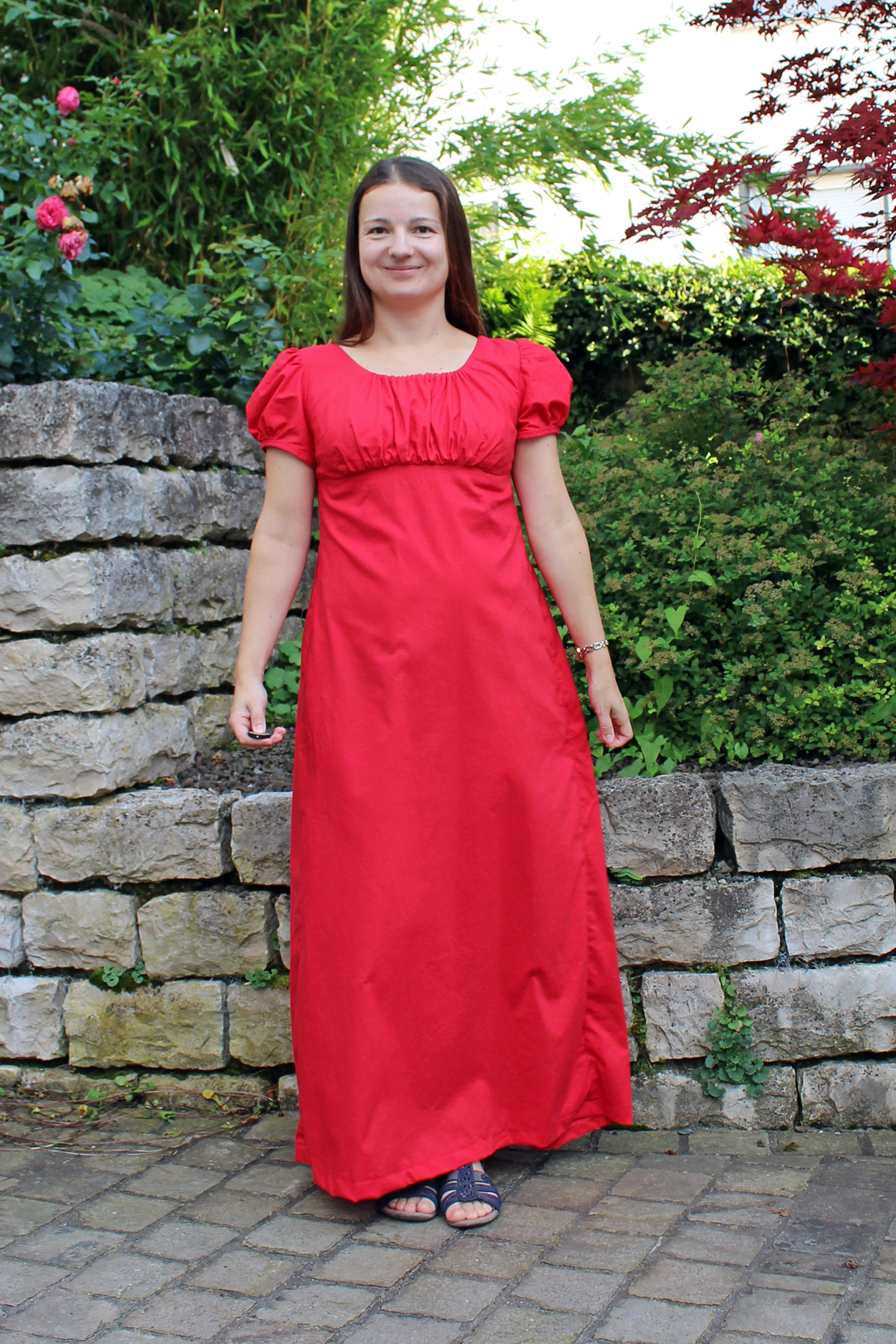 Regency-Kleid nach dem Schnitt Simplicity 4055
